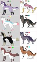Fox and Wolf Adoptables by MichelsAdoptions