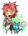 Natsu and Happy by Serenegrace