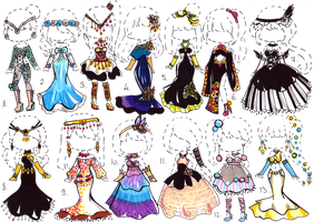 -CLOSED- Fantasy clothes by Guppie-Adopts