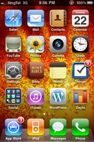 iPhone Home Screen, 2010-08-22 by BoltClock