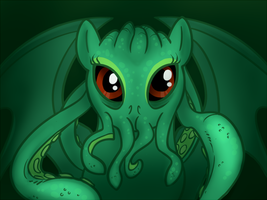 Cthulhu Pony by LadyBloodFlower