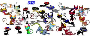 My all kats and my friends kat 2012 by SaraTheDog848