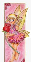 Rose - bookmark by ann-chan20