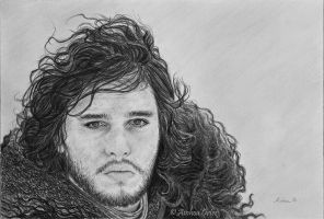 *Jon Snow, from Game of Thrones* by AinhoaOrtez