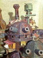 Howl's Castle Cannon Detail by Dreamparacite