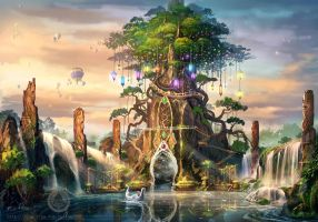 Theme park design - the tree of life by sam2982