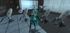 Hatsune Miku in Portal by JJsonicblast86