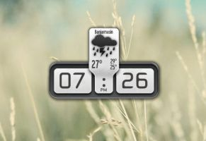 Plain Clock and Weather for XWidget by boyzonet