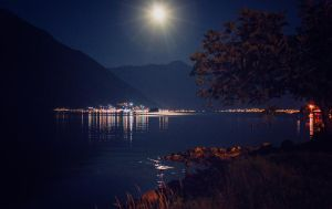 Moonlight over the sea by mmmrvica
