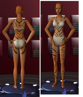 "The sims 2 ""Tiger skin body"" by Litessa"