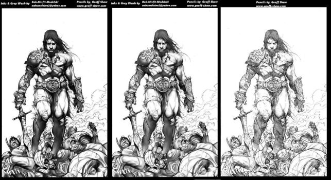 Conan Inks progression by Misfit over Geoff Shaw p by Bob-Misfit-Modelski