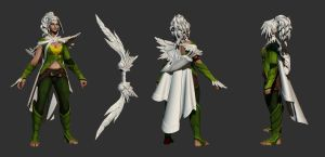 Windrunner set Highpoly done! by Anuxinamoon