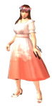 Kasumi in flower crown (transparent png) by AgnessAngel
