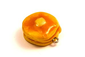 Polymer Clay Flapjack Charm by TooGoodToEat