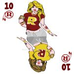 redskins playing card design by maddart12