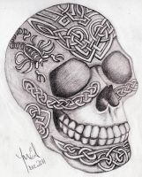 Celtic Skull by sweetmarly