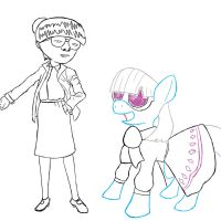 Edith Head meets Ponies by PaperOri