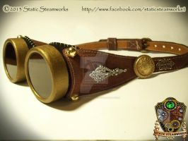 Steampunk Goggles by Static-Steamworks