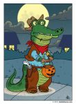 Trick-or-Treating Alligator by StudioBueno