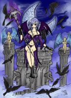 Fallen Angel Colored wip by patty110692