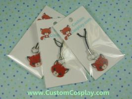 Embarrassed Fox face charms by The-Cute-Storm