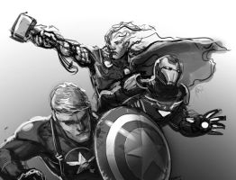 Avengers! sketch by browniedjhs