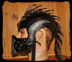 leather helmet by Lagueuse