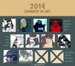 2014 - A Year in Art by ColAutumnsOvercoat