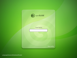 openSUSE 11.1 GDM Light Glass by Falco101