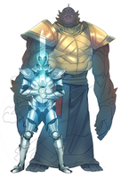 AoOF - Alabaster Ur and Ogre Lord Folonius by LordNobleheart