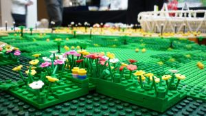 East Village Greenery in Lego by ggeudraco