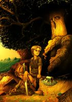 Frodo and Sam in the Forest by UTTOTOR
