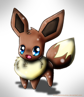 Chiby eevee by Kalinel
