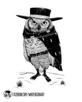 The Owl with no name by Whitebisonart