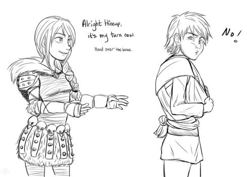 Daddy Hiccup (cont.) by Mikki05