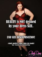 BEAUTY is NOT Defined By Your Dress Size! by ClassyDamePinup