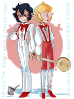 Suspender men by JoEttaShinigami