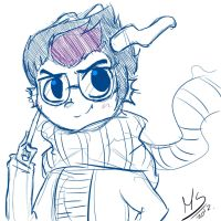 eridan ampora sketch by rainbowmostacho