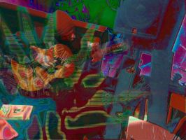 Jason with Classical Guitar (Psychedelic Version) by petebuck1