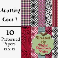 """Anything Goes"" Scrapbook Kit by mambus"