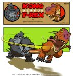 Kong VS T-Rex 004 by BongzBerry