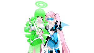 MMD NEWCOMERS Hana and Allison by TrinityRaven