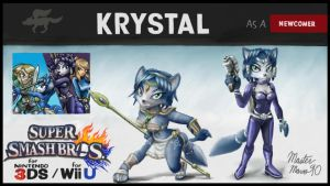 Krystal for Super Smash Bros. by MasterMario90