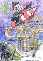 Happy New Year 2015 from Ruffy by ruffytoon