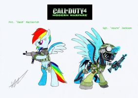COD4-MW Ponies (Main Characters) by Azure-Zecron