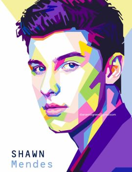 Shawn Mendes in WPAP by dianambigram