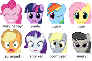 Pony Emotes by Scramjet747