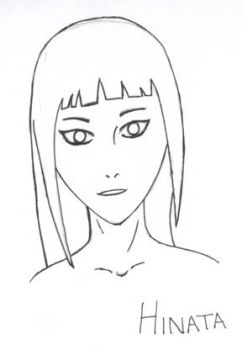 Grown Hinata - Not Colored by d3ne