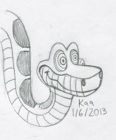 1/6/2013 Kaa from Jungle Book by Jasperideon