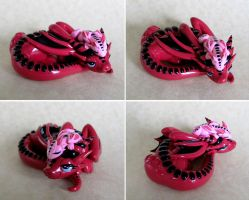 Pink Mama and Baby Dragons by DragonsAndBeasties